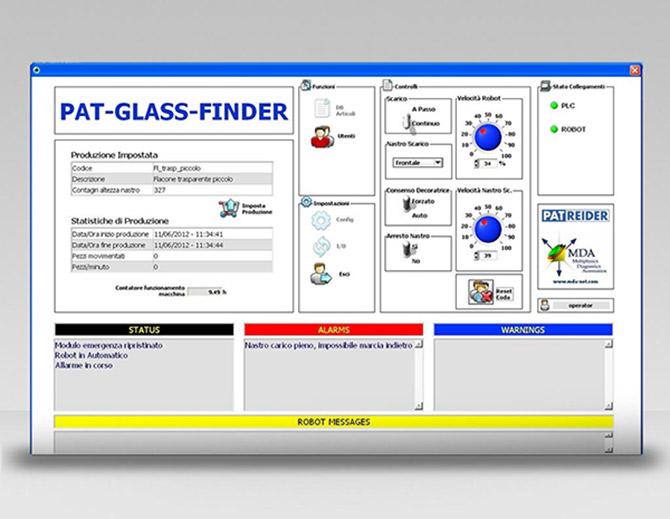 Manipolazione automatizzata flaconi bottigliette vetro